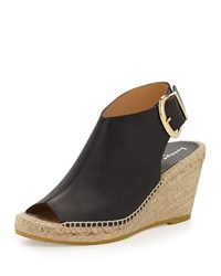 Dresser Leather Wedge Bootie Black Bettye Muller