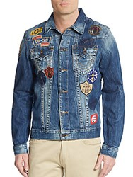 True Religion Jimmy Patchwork Denim Jacket Blue