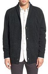 Men's Ben Sherman 'The Cable' Shawl Collar Cardigan Black