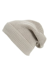 Phase 3 Stand Up' Basket Knit Slouchy Beanie Grey Flint