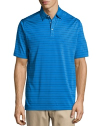 Callaway Stripe Polo Shirt Magnetic Blue Striped