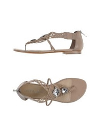 Guess By Marciano Thong Sandals Dove Grey