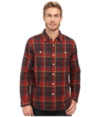 True Grit Harley Double Light Freedom Plaid Long Sleeve Two Pocket Shirt Vintage Red Men's Clothing