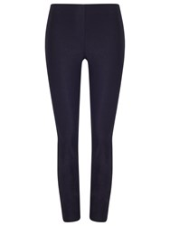 Phase Eight Senia Zip Cropped Trousers Navy