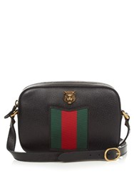 Gucci Animalier Grained Leather Cross Body Bag Black