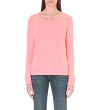 Sundry Raglan Sleeve Jersey Sweatshirt Pop Orange