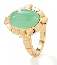 Boodles Keystone Chrysoprase Ring Female Yellow Gold