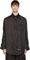 Ktz Black Nylon Oversize Shirt