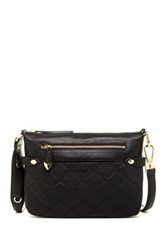 Perlina Juliet Quilted Leather Crossbody Black
