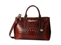 Brahmin Small Lincoln Satchel Pecan Satchel Handbags Brown