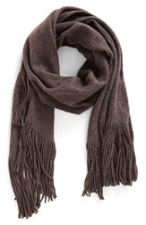 Free People Women's 'Kolby' Brushed Scarf Graphite