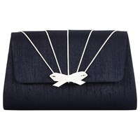 Jacques Vert Pipe Detail Clutch Bag Navy