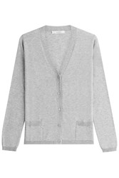 Max Mara Cardigan With Silk And Cashmere Grey