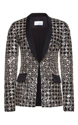 Zuhair Murad Fully Embroidered Tulle Jacket Metallic