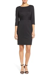 Donna Ricco Women's Textured Wrap Waist Sheath Dress