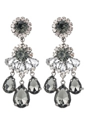 Sweet Deluxe Burgas Earrings Gunmetal Black Diamond Crystal Dark Gray