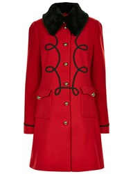Vivetta Red Wool Military Impatiens Coat