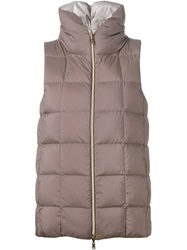Herno Reversible Padded Gilet Metallic