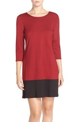 Women's Leota Colorblock Ponte Shift Dress Burgundy Black