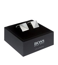Boss August Mother Of Pearl Cufflinks Unisex Silver