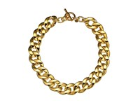 Michael Kors Curb Chain Toggle Necklace Gold