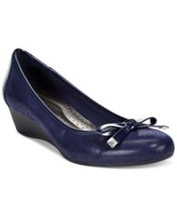 Karen Scott Pippa Casual Wedges Only At Macy's Women's Shoes Navy