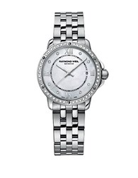 Raymond Weil Ladies Stainless Steel Tango Watch With Diamond Encrusted Bezel Silver