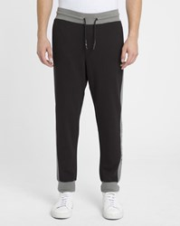 Armani Jeans Black And Grey Aj Logo Joggers