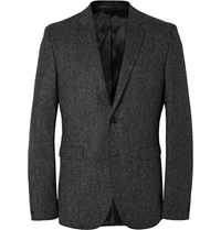 Acne Studios Grey Aron Slim Fit Wool Tweed Suit Jacket Gray