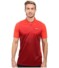 Nike Tiger Woods Vl Max Sphere Print Polo Light Crimson Team Red Reflective Silver Men's Short Sleeve Pullover