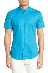 Men's Hugo 'Empson' Slim Fit Sport Shirt Teal