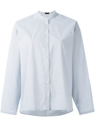 Joseph Mandarin Collar Shirt White