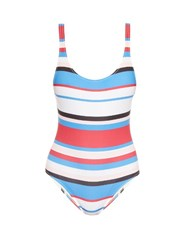 Solid And Striped The Anne Marie Striped Swimsuit Blue Multi