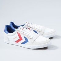 Hummel Men's White Low Trainers
