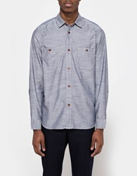 Junya Watanabe Cotton Pin Check Stripe Shirt Navy