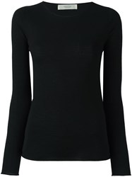 Zanone Round Neck Jumper Black