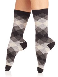Ilux Lila Diamond Anklet Socks Black