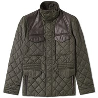 Barbour X Land Rover Esmissary Quilt Jacket Green