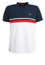 Fila Sid Sports Shirt White Peacoat Blue Red
