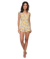 For Love And Lemons Aloha Romper Bird Of Paradise Gold Women's Jumpsuit And Rompers One Piece Beige