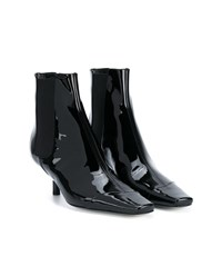 Loewe Patent Leather Chelsea Boots Black White Blue