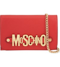 Moschino Leather Logo Wallet Red