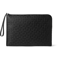 Loewe Embossed Leather Portfolio Black