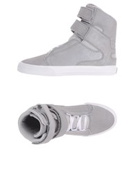Supra Footwear High Tops And Trainers Women Light Grey