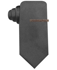Ryan Seacrest Distinction Seacrest Solid Slim Tie Black