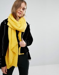Oasis Paris Crinkle Scarf Ochre Yellow