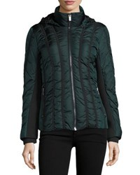 Zac Posen Olivia Zip Front Short Puffer Coat Black