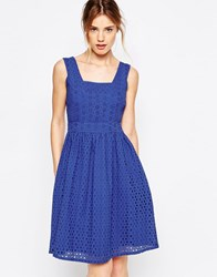 Yumi Uttam Boutique Broderie Anglais Sun Dress Blue