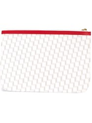 Pierre Hardy 'Cube Perspective' Clutch White
