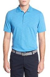 Ag Jeans Men's Ag Green Label 'Bryant' Trim Fit Slub Cotton Polo Parisian Blue
